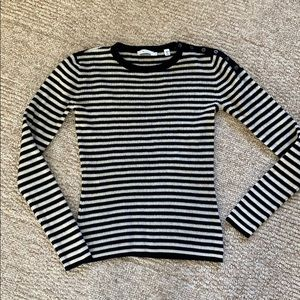 Black and white stripe A.L.C. ribbed sweater